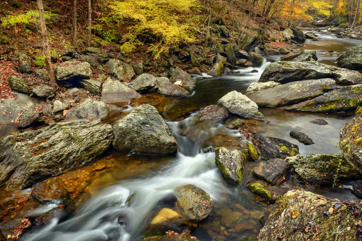 Autumn River Smoky Mountains National Park Tennessee