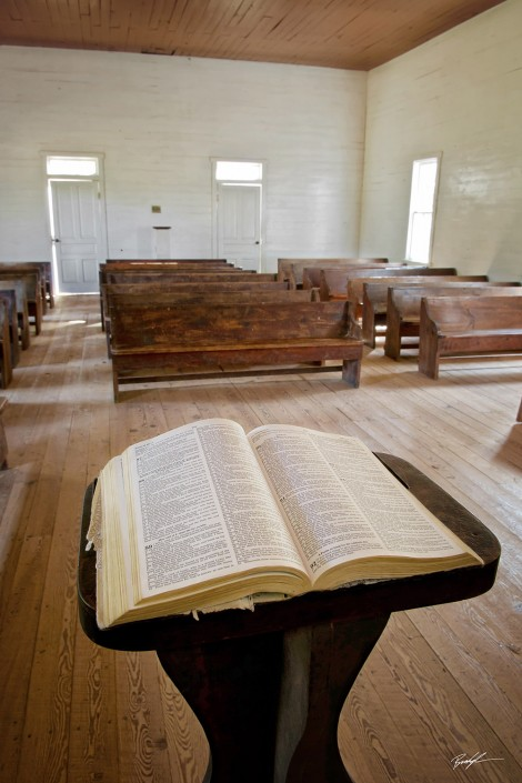 Cades Cove Methodist Church Smoky Mountains Tennessee
