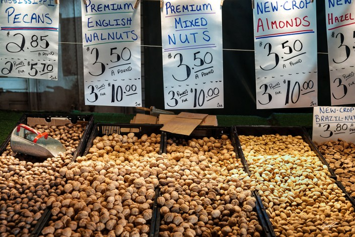 Nuts for Sale Farmer's Market