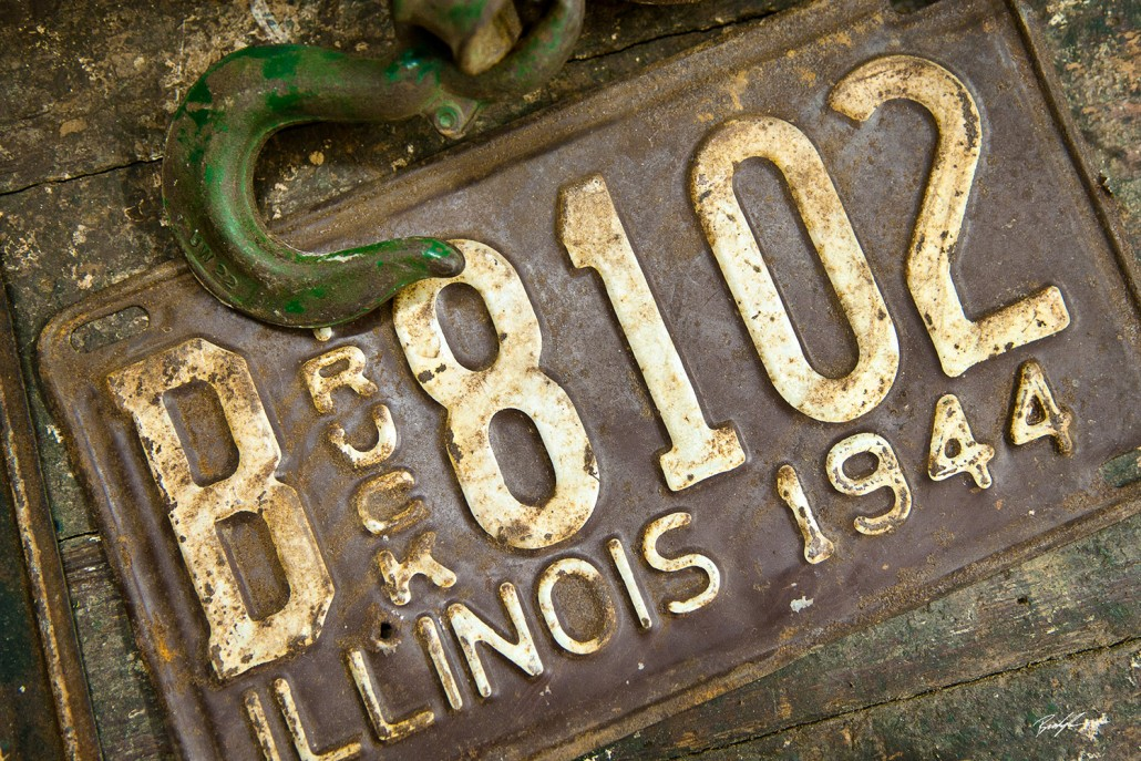 Antique License Plate