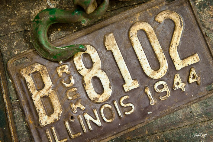 Antique License Plate