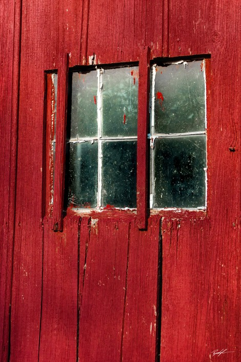 Red Barn Window Madison County Illinois