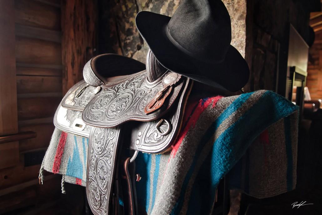 Saddle Cowboy Hat Bunkhouse Wyoming