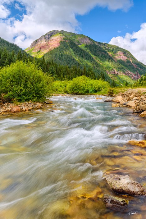 Flowing River San Juan Mountains Colorado