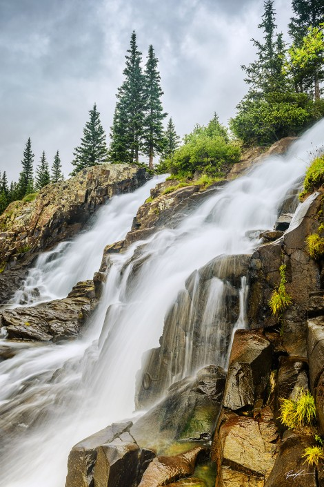 Double Waterfall San Juan Mountains Colorado
