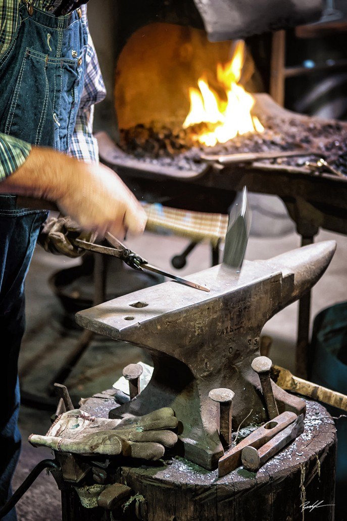 Blacksmith's Hands and Anvil