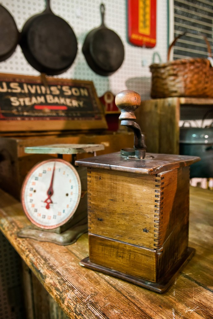 Coffee Grinder Scale and Skillets