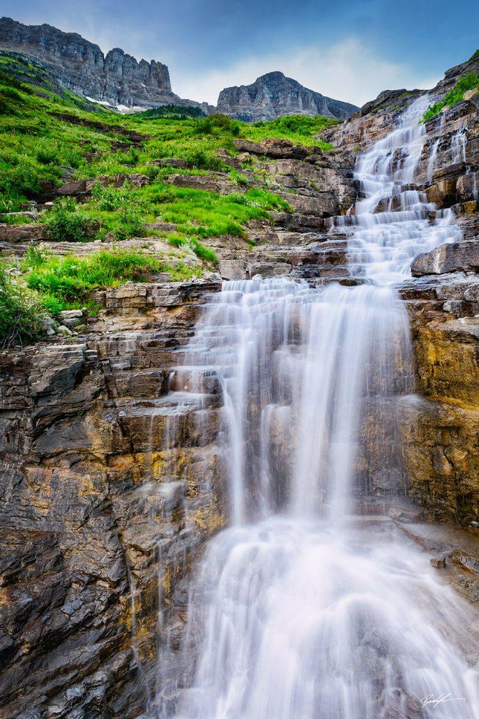 Haystack Falls Glacier National Park Montana