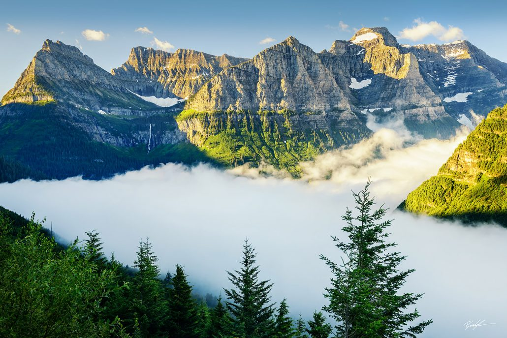 Foggy Mountain Valley Glacier National Park Montana