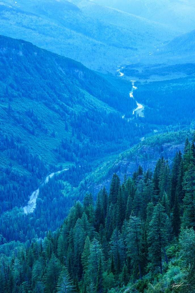 Blue Hour Valley Glacier National Park Montana