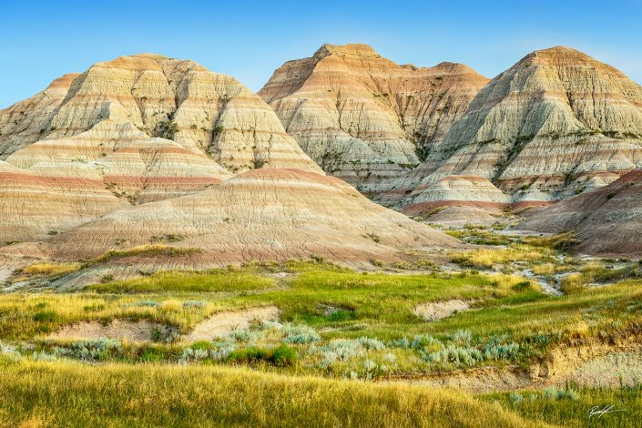 Three Mounds Badlands National Park South Dakota