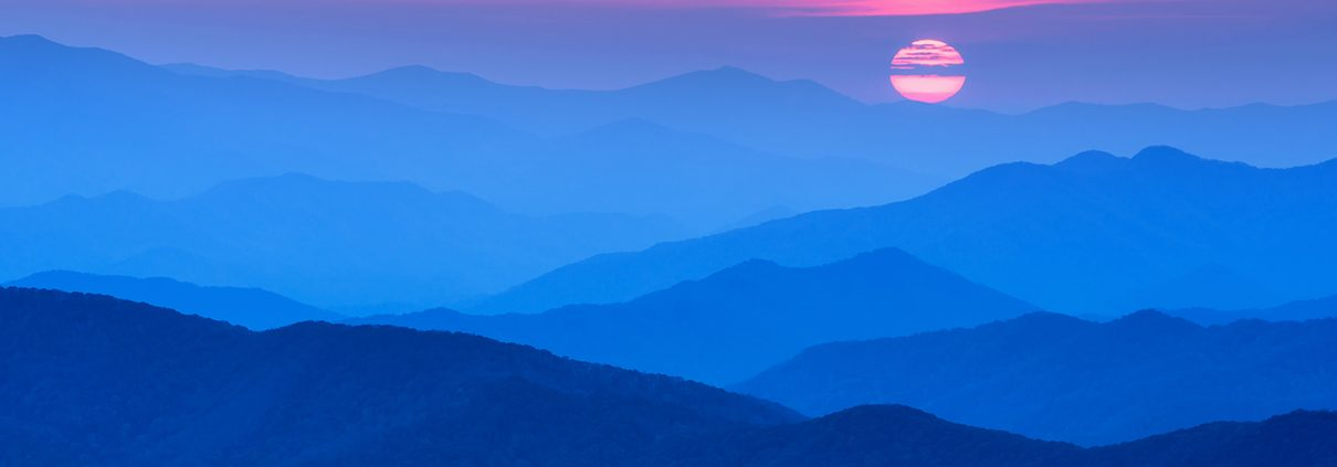 Sun on the Horizon Clingman's Dome Smoky Mountain National Park Tennessee