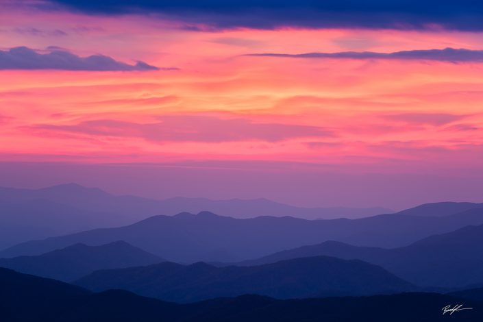 Clingman's Dome Sunset Smoky Mountain National Park Tennessee