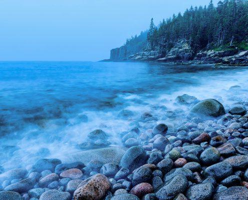 Otter Point Blue Hour Acadia National Park Maine