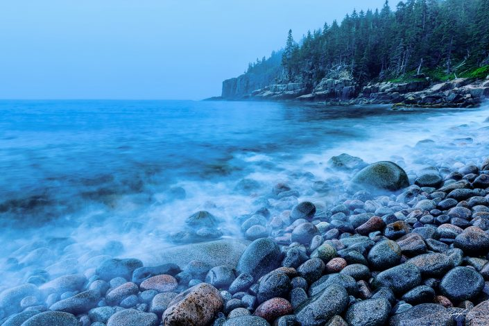 Otter Point Blue Hour Acadia National Park Maine