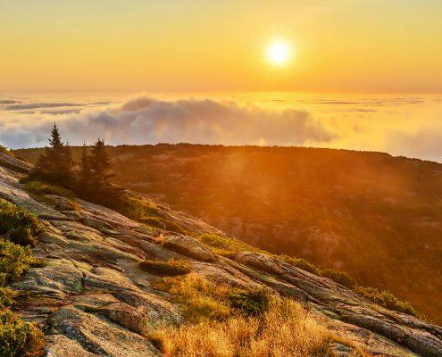 Cadillac Mountain Sunrise Acadia National Park Maine