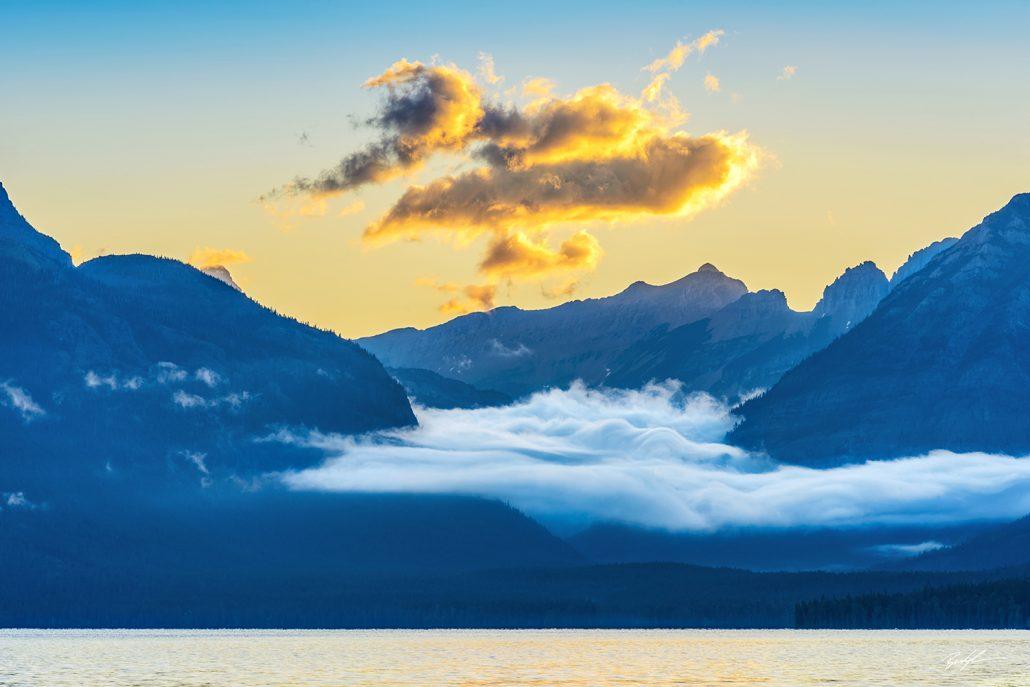 Sunrise and Clouds, Lake McDonald, Glacier National Park, Montana