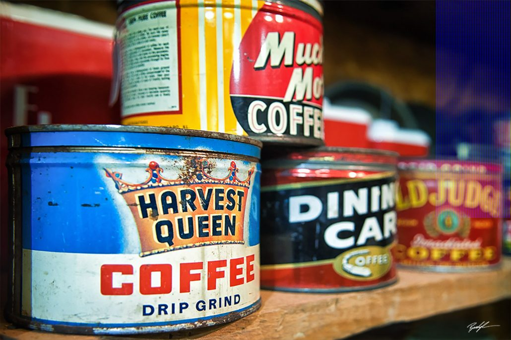 Antique Coffee Cans