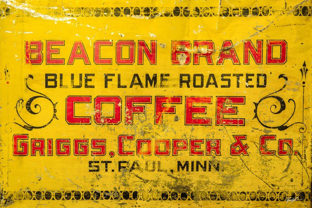 Vintage Coffee Advertising Sign