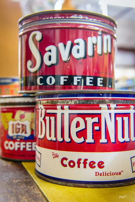 Antique Coffee Can Stack