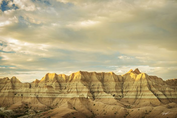 Golden Evening Badlands National Park South Dakota