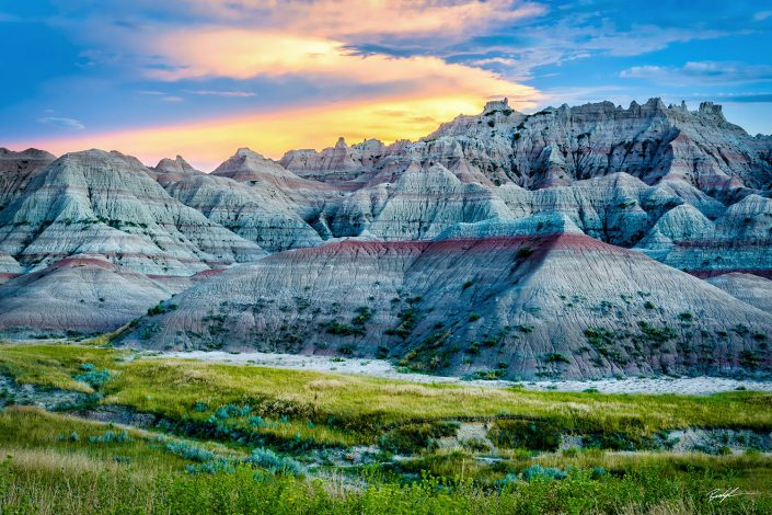Blue Mounds Badlands National Park South Dakota
