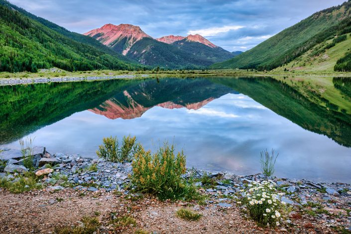 Red Mountain Crystal Lake Colorado San Juan Mountains