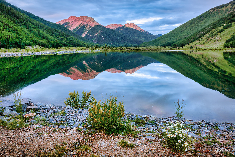 Red Mountain Crystal Lake Colorado San Juan Mountains
