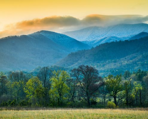 #L104 - Cades Cove Sunrise Great Smoky Mountain National Park Tennessee