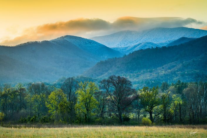 Cades Cove Sunrise Great Smoky Mountain National Park Tennessee