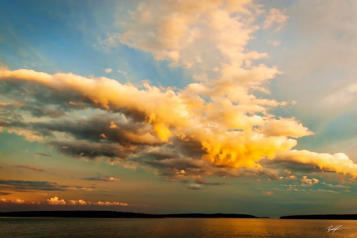 Cloud Bank and Sunset Acadia National Park Maine