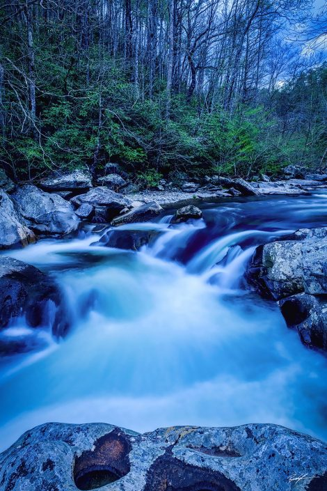 Little River After Sunset Smoky Mountain National Park Tennessee