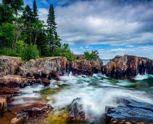 Artist Point Waves Grand Marais Lake Superior Minnesota