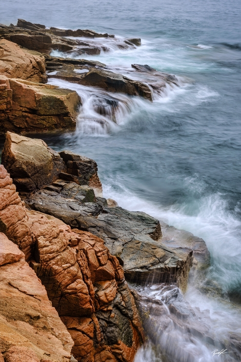 Acadia National Park Shoreline Maine
