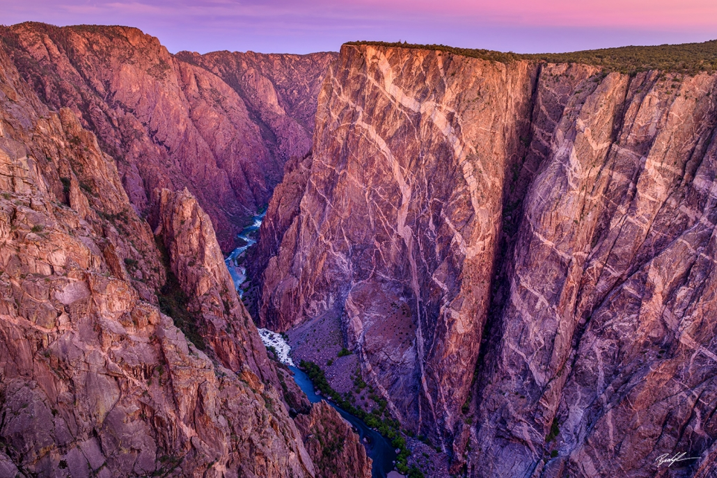 Alpenglow, Painted Wall, Black Canyon of the Gunnison National Park, Colorado