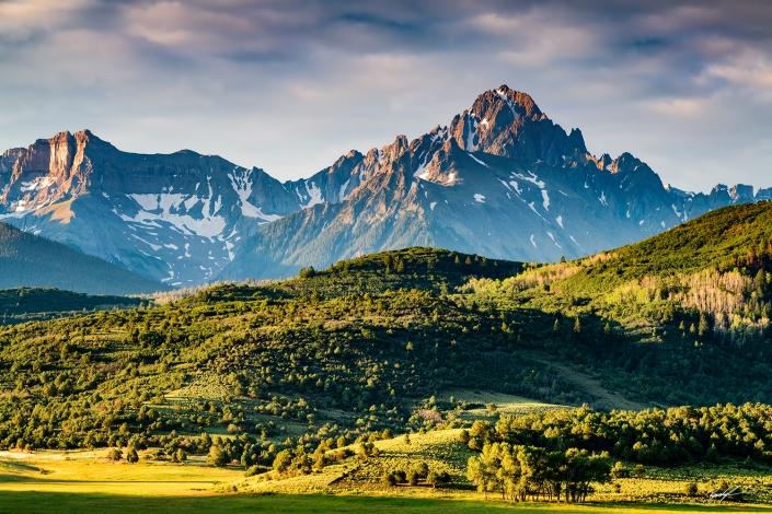 Mount Sneffels Morning Light San Juan Mountains Colorado