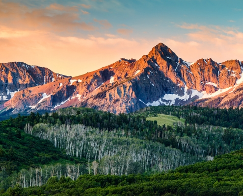 San Juan Mountains Mears Peak Alpenglow Colorado
