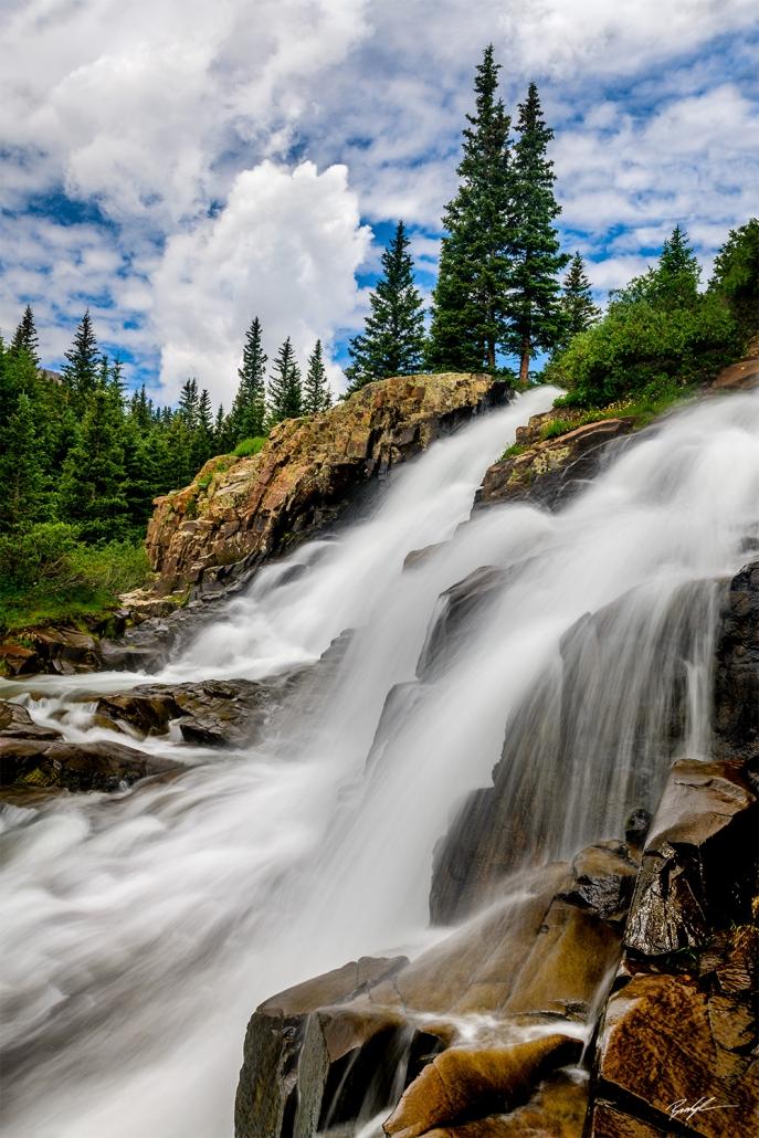 Twin Falls Yankee Boy Basin San Juan Mountains Colorado