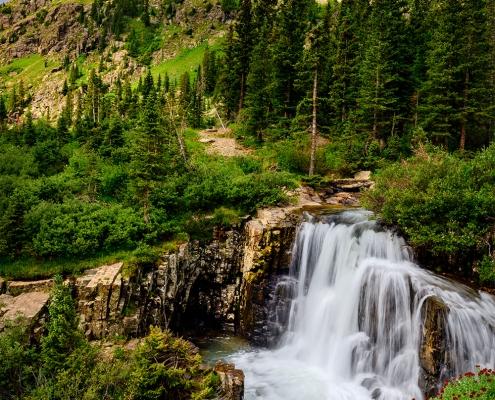 Yankee Boy Basin Lower Twin Falls San Juan Mountains Colorado