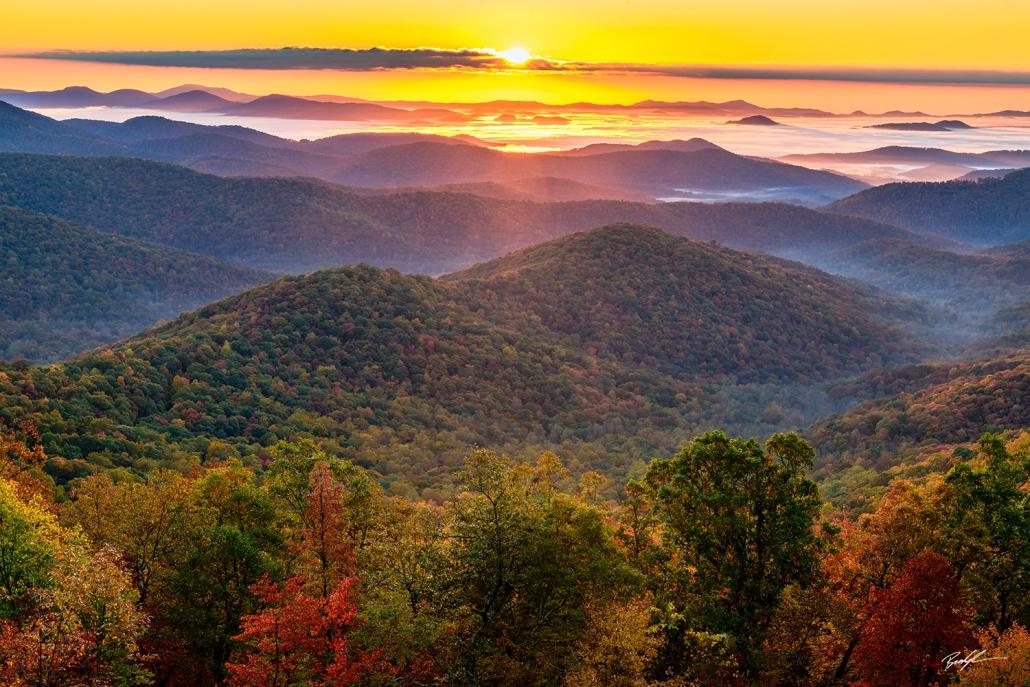 Sunrise Blue Ridge Parkway North Carolina