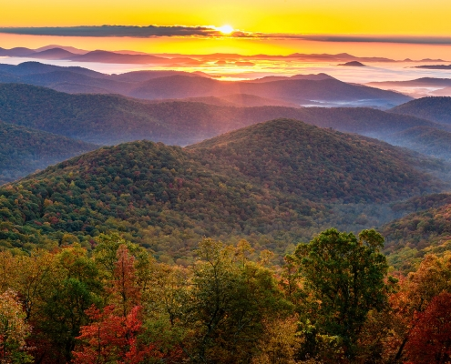 Sunrise Blue Ridge Parkway North Carolina