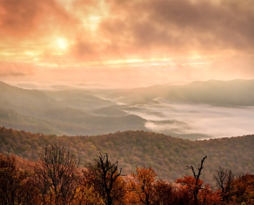 Sunrise Fog Blue Ridge Parkway North Carolina