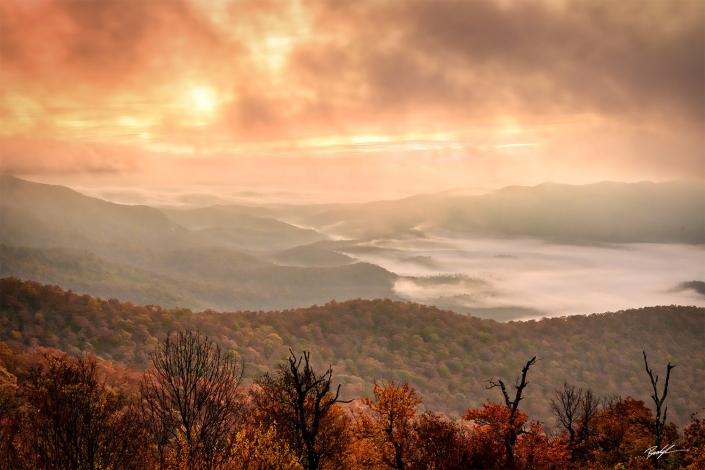 Sunrise Fog Blue Ridge Parkway North Carolina