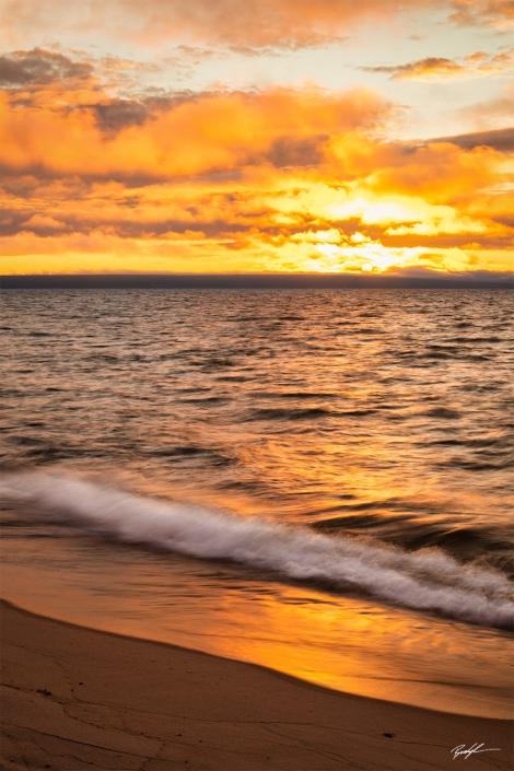 Lake Superior Sunset Upper Peninsula Michigan