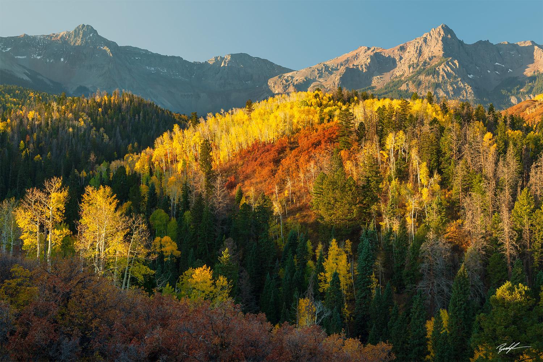 Autumn Alpenglow San Juan Mountains Colorado
