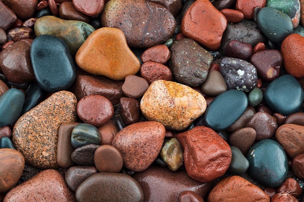 Cobblestones Lake Superior Upper Peninsula Michigan