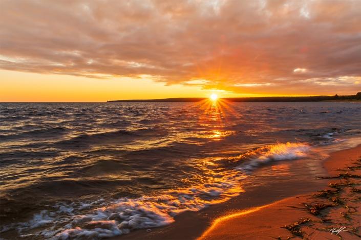 Lake Superior Sunrise Upper Peninsula Michigan