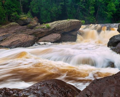 Sandstone Falls Presque Isle River Upper Peninsula Michigan