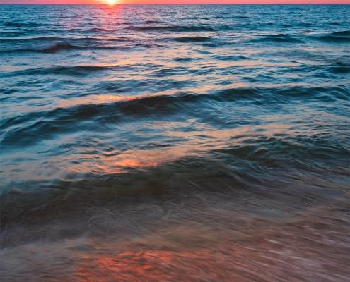 Lake Michigan Sunset Reflection Little Sable Point Michigan